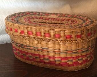 Woven Oval Basket Box Tarot Box