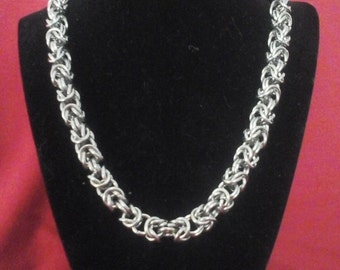 Stainless Steel Byzantine Chainmail necklace