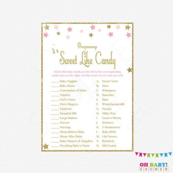 how sweet it is baby shower game pink and gold baby shower games