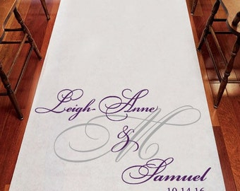 Personalized Fancy Script Aisle Runner