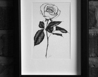 White Rose A5 Print- Limited Edition