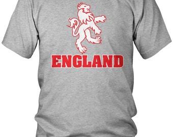 Bold England Crest Men's T-Shirt, English, England Flag, Pride, Men's England Shirts AMD_0263