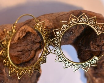"""Brass Earrings """"Sunny"""""""