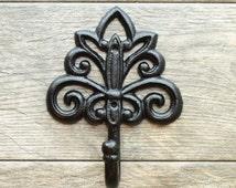 Decorative Coat Hooks/Shabby Chic Clothes Hook/Cast Iron/ Cottage Chic/ Ornate/ Nursery Decor/ Bath hooks/ French Country/Mudroom Wall Hooks