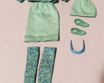 Vintage Repro Mod Francie God About's green Outfit