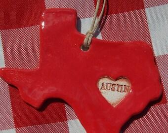 Austin Texas Ornament, Austin Memento