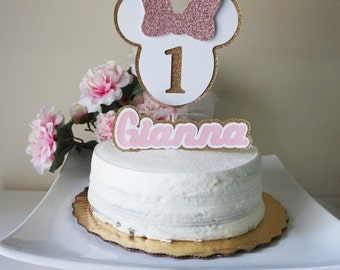 Minnie mouse cake topper (2 pieces)