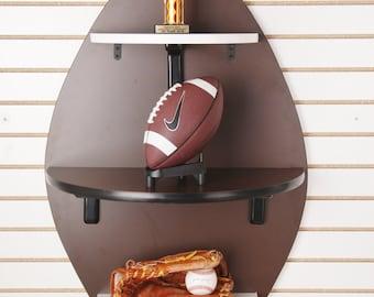 Football Shaped Shelf
