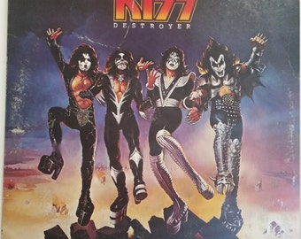 KISS Destroyer Vinyl Record with KISS Army Mail-In and Vintage KISS Tattoos
