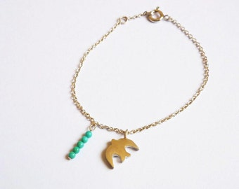 bracelet, swallow,turquoise,925 sterling silver