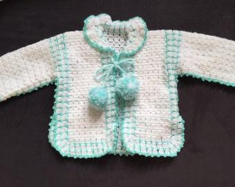 Little jacket for baby wool hook