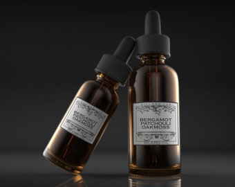 Bergamot Patchouli Oakmoss,  beard oil, tonic, all natural