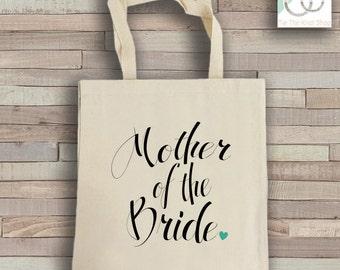 Mother of the Bride Tote Bag - Natural Cotton Canvas Tote - Wedding Tote Bag - Mother of the Bride Reusable Bag - Shoulder Bag - Canvas Bag