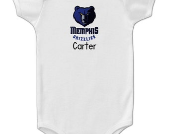 Personalized Memphis Grizzlies Baby Onesie