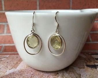 Lemon Drop Martini Earrings