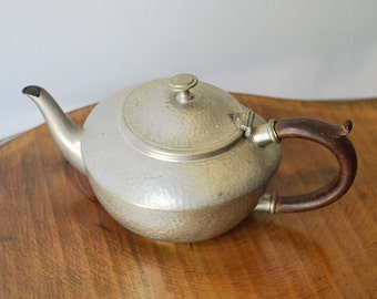 Hammered Pewter, Argent Pewter Teapot, Old Teapot