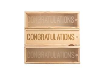 Wooden Wine Box (single) - Congrats #1