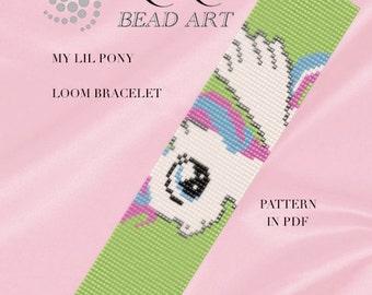 Bead loom pattern - My lil pony LOOM bracelet pattern in PDF - instant download