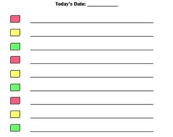 Today's To Do List Printable
