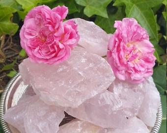 Gemmy Raw Rose Quartz Chunks - Supreme Nurturer, Loving Comfort, Lovers Token.