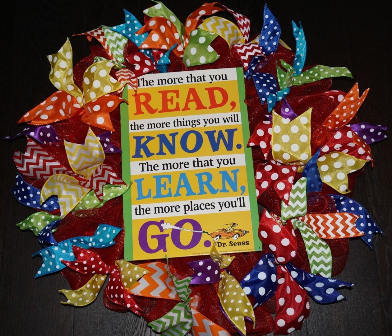 Classroom Wreath Ideas ~ Dr seuss wreath teacher classroom