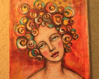 Big Curly Girl # 4
