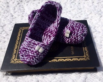 Storybook Slippers, Book Slippers, Once Upon a Time Slippers, Purple Slippers, Socks
