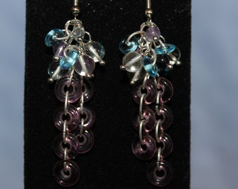 Glass Ring Cascade Earrings