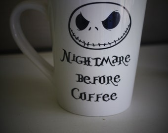 Jack Skellington Mug, Jack Skellington, Nightmare Before Christmas, Nightmare Before christmas Mug, Funny mug, cute mug, Jack skellington