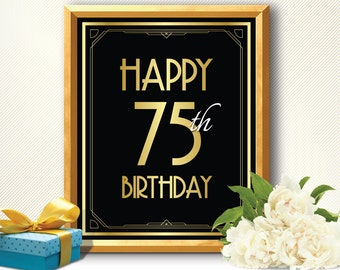 75th Birthday Card Etsy