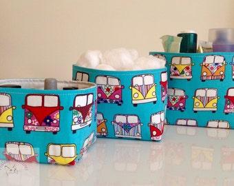 Fabric Storage Box Set - Campers Vans