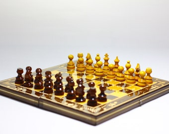 Vintage wooden chess  BRAND NEW german wooden chess set gift for him