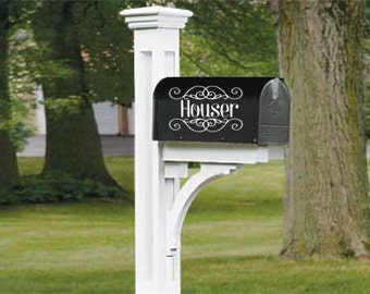 Mailbox Decal // Mailbox Sticker // Last Name Mailbox Decal // Decal // Vinyl Decal // Vinyl Sticker // Wonderfully Made Creations