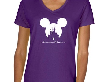 Disney Mickey Home Sweet Home Vneck Tshirt