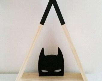 Handmade Wooden Batman Mask