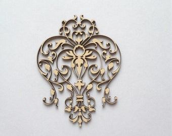 Amazing Airy Laser cut wood lace 185 / Wood ornaments / Wood shapes / Laser cut wood / Wood charms / Laser cuts / Wood art / Laser engraved
