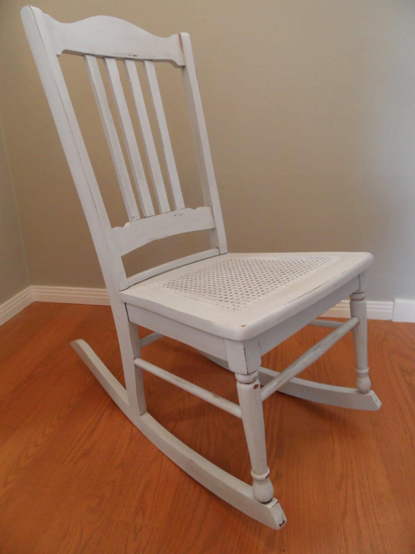 sale kids wood vintage rocking chair cane seat antique. Black Bedroom Furniture Sets. Home Design Ideas