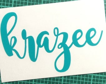 """Your name or word in this font...vinyl decal all lower case (up to 8 letters unless ordering 5"""" or longer)"""