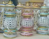 Lantern.., Lamp of Marble with handle in both side shaped as lantern