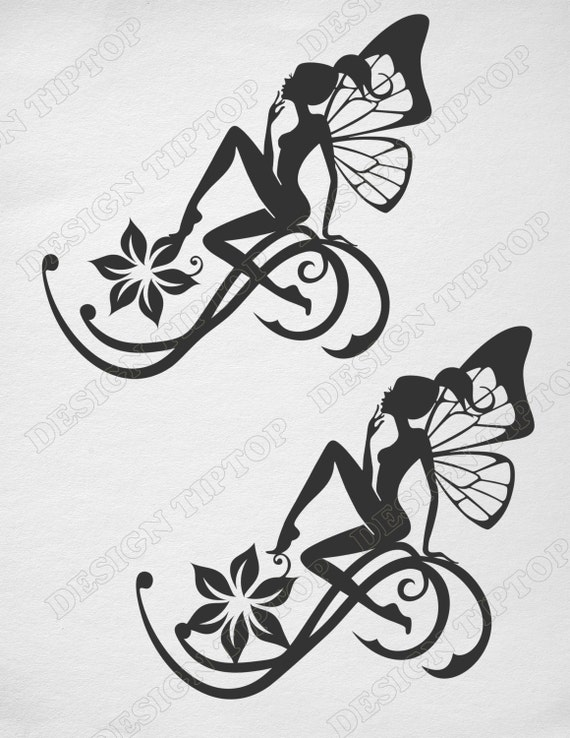 fairy svg dxf png eps cut print silhouette fairy fairy