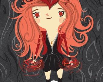Marvel Scarlet Witch 5x7 print