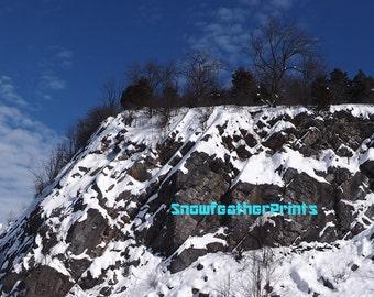 Snow Covered Quarry