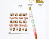 CLOSING SALE 40% OFF - 009 planner stickers : coffee addict icons