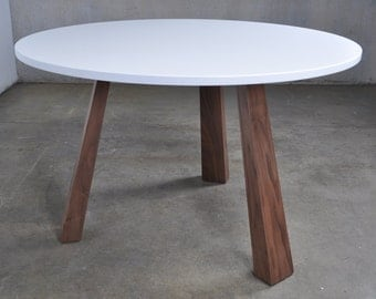 White Wooden Dining Table