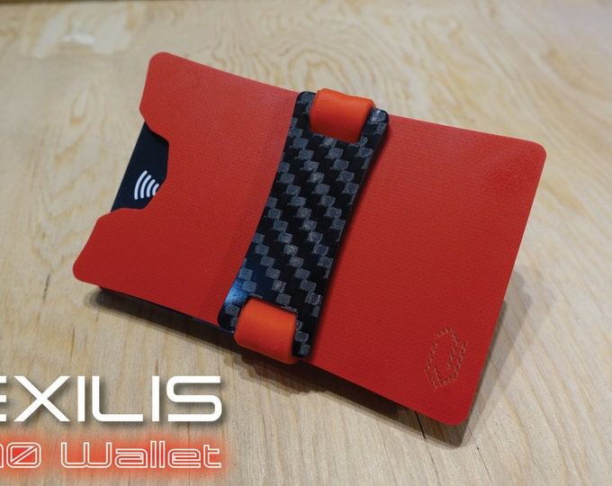 Candy Red Dual-Plate G10 Wallet, Slim Wallet, Minimalist Wallet, Money Clip, Credit Card Holder, EXILIS Wallet