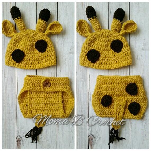 Crochet Giraffe Hat Pattern For Dogs : Crochet Giraffe Baby Set Giraffe Hat Giraffe Photo Prop Set