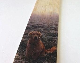 Wooden Bookmark - Wood Bookmark - Dog bookmark - Retriever - Golden Retriever - Handmade bookmark - Labrador Retriever - Unique bookmark