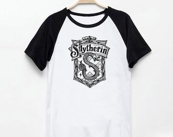 Slytherin House Logo Harry Potter Tshirt Vintage Style