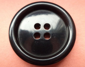 10 large buttons black 25 mm (1752) button coat buttons jacket buttons