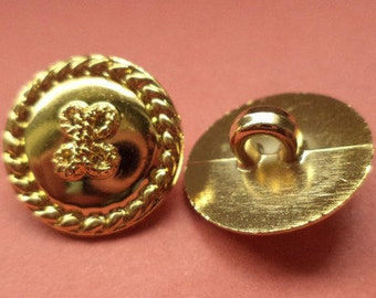 12 buttons gold 15mm (5665) button